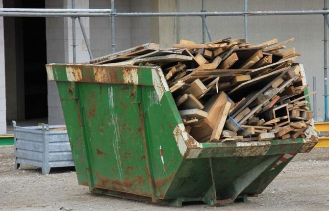 Statybinės atliekos po griovimo darbų